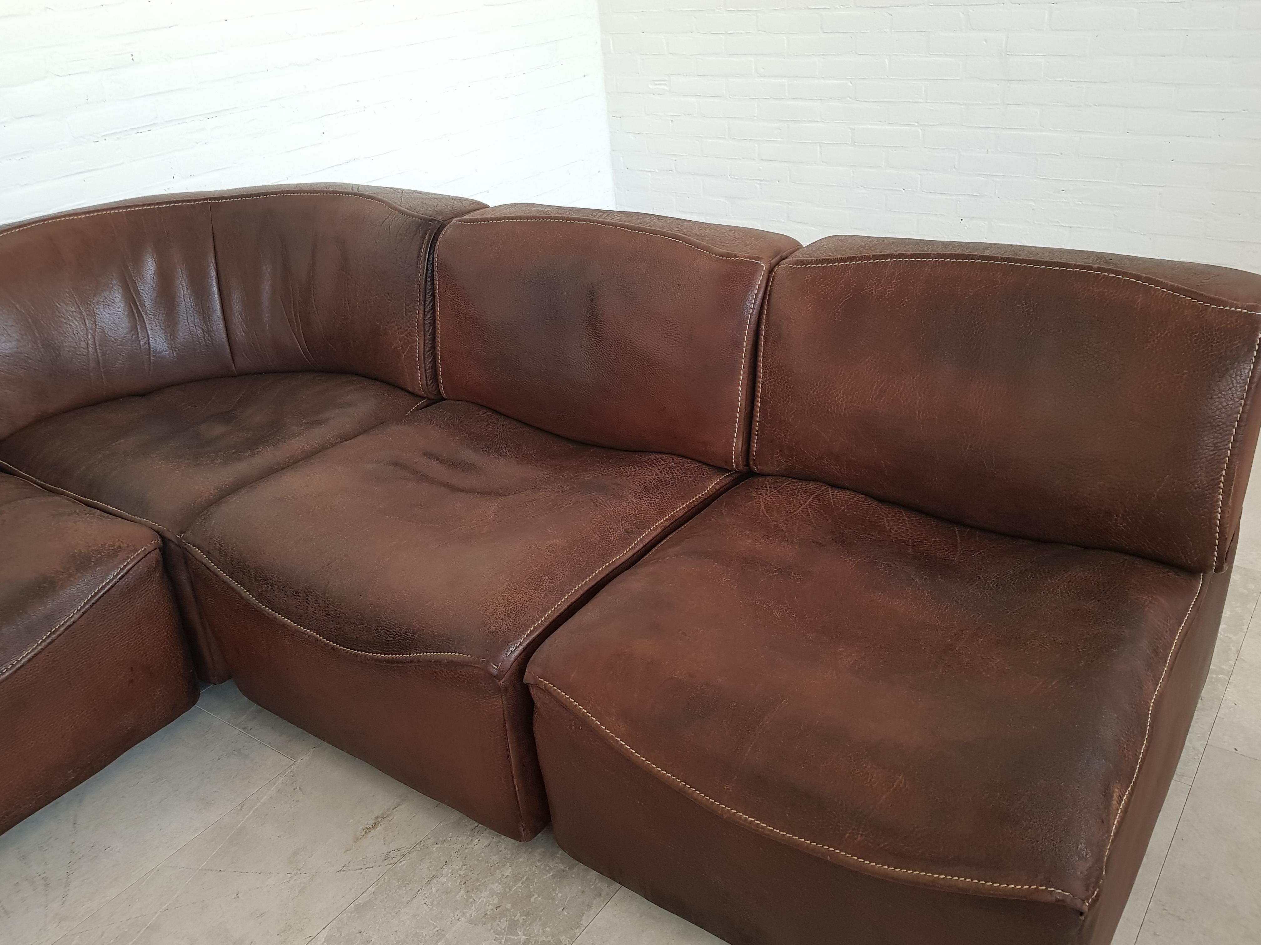 Pleasing De Sede Ds15 Sectional Sofa 1970S Sitonvintage Creativecarmelina Interior Chair Design Creativecarmelinacom
