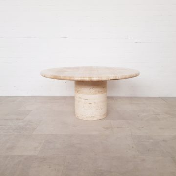 Travertine coffee table Mangiarotti style