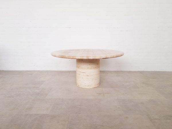 Travertine coffee table Mangiarotti style