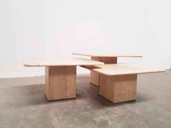 Travertin coffee table