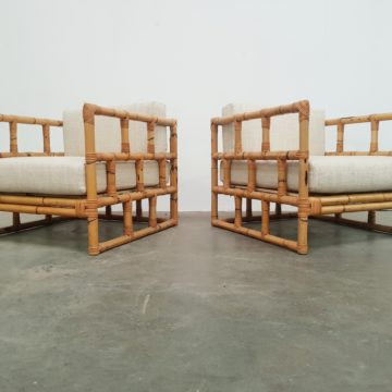Bamboo lounge chairs