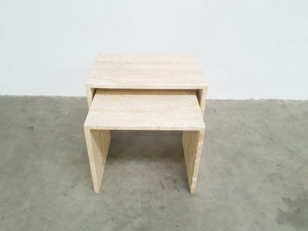 Travertine nesting table