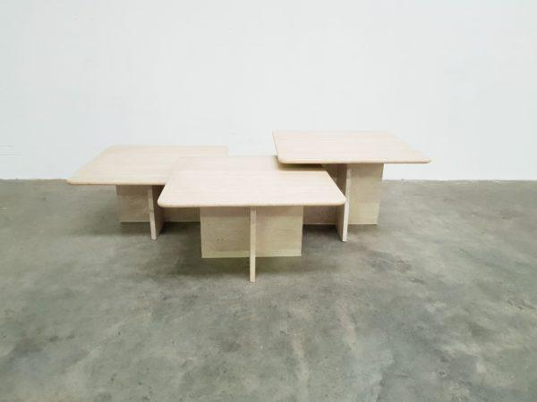 Travertine coffee table