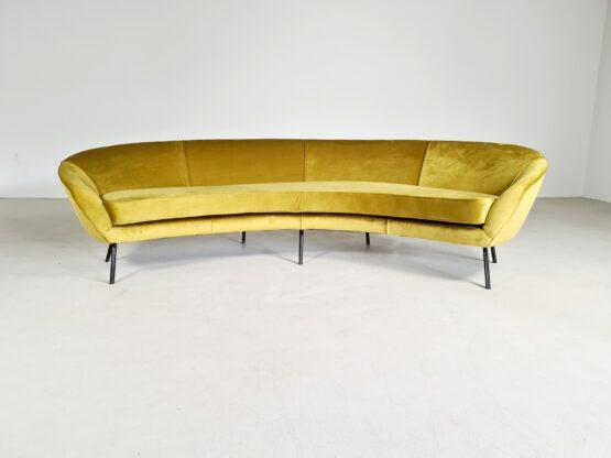 Vintage Italian curved sofa