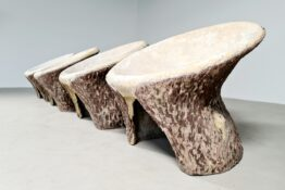 Concrete outdoor chairs