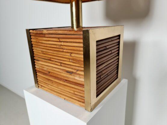 Bamboo, brass lamp traversi milano